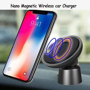 Wireless Car Charger Magnetic Phone Holder