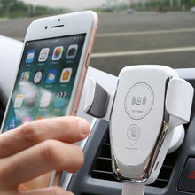 Wireless white car charger with holder