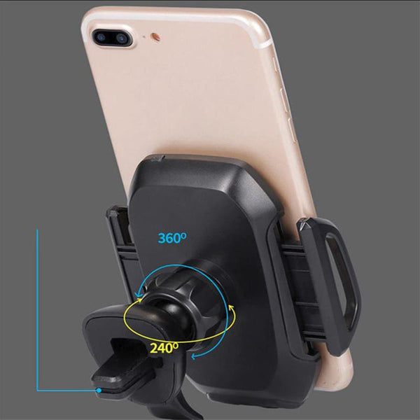 Infrared car mobile charger back view