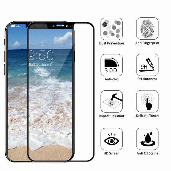 5D Full Cover Screen Protector Protective Glass For iPhone X