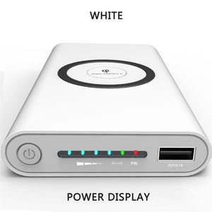 Wireless white Powerbank Portable Mobile Phone Charger