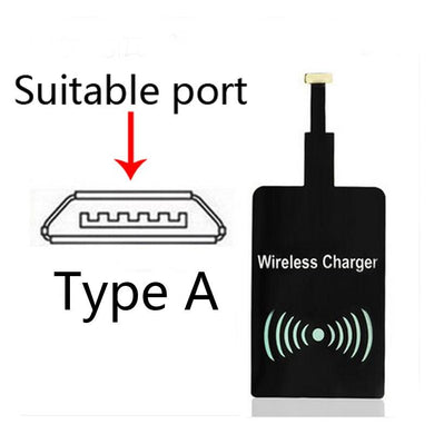 Qi Type A wireless charger reciever for android phones