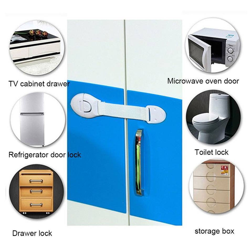 Baby Kids Safety Locks Lengthen Drawer Door Cabinet Cupboard Strap Safety Locks Plastic Children