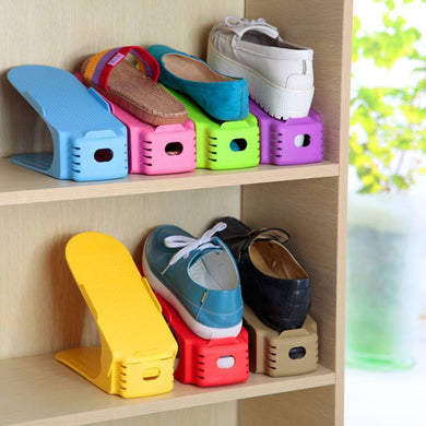 organize kids shoes with shoe rack