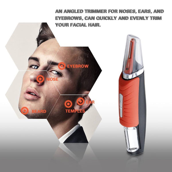 remove facial hair using all in one trimmer