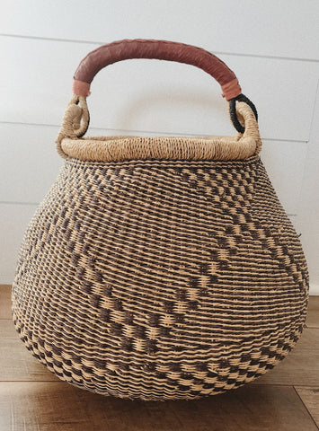 African Basket with Handle