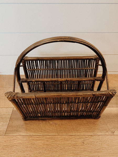 Brown Bamboo Magazine Rack