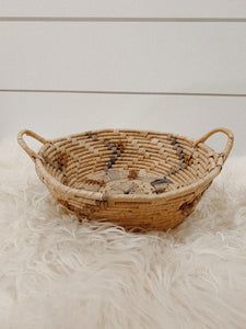 Blue and Brown Woven Basket