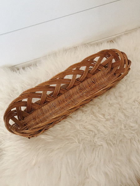 Long & Narrow Braided Basket