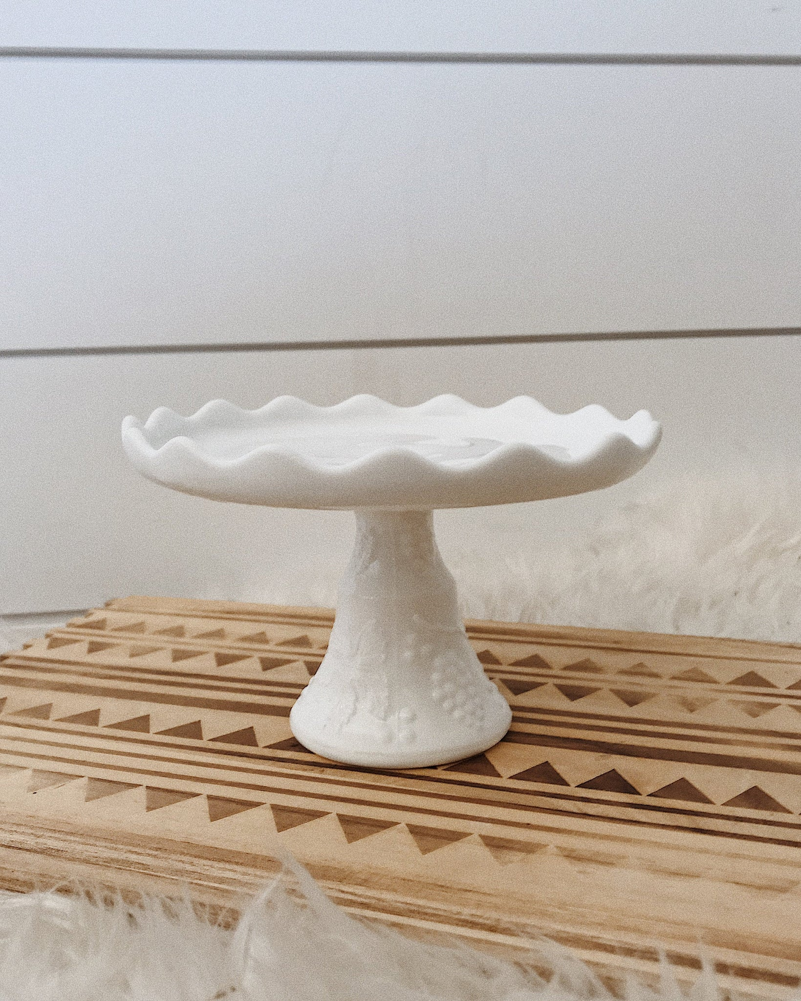 Milk Glass Small Cake Plate