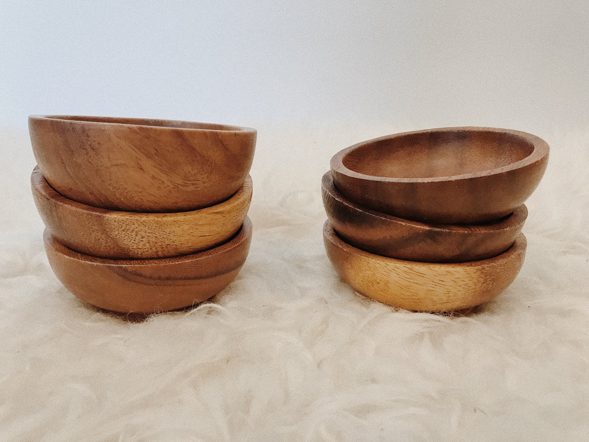 Wood Stacking Dip Bowls