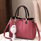 Hot Sale Lace Up Zipper Up Solid Hand Bag