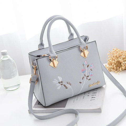 Elegant Embroidery OL Style Handbags