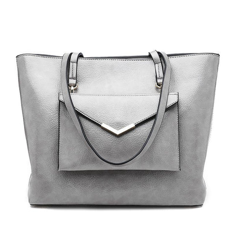 Fashionable Pu Pure Color Tote Bags