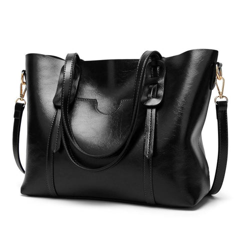 Euro Style Solid Zipper Pu Tote Bags