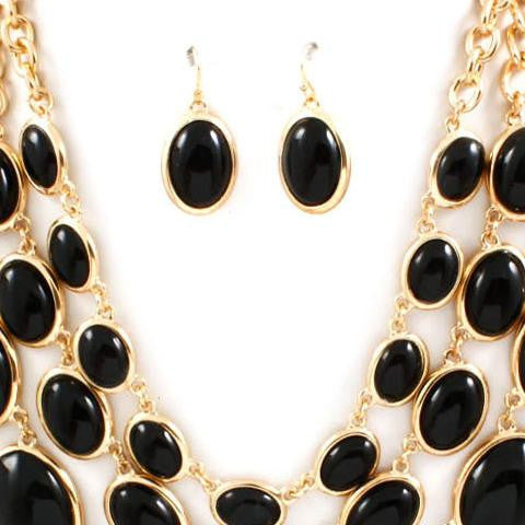 Necklace & Earring Set - 704125 - LABELSHOES