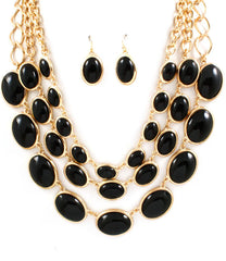 Necklace & Earring Set - 704125