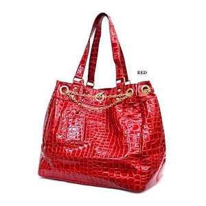 Crocodile Pattern Handbag - LABELSHOES