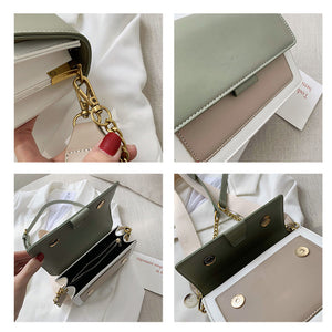 Multicolor White Boxy Crossbody Bag