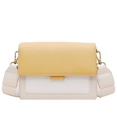 Multicolor Yellow Boxy Crossbody Bag