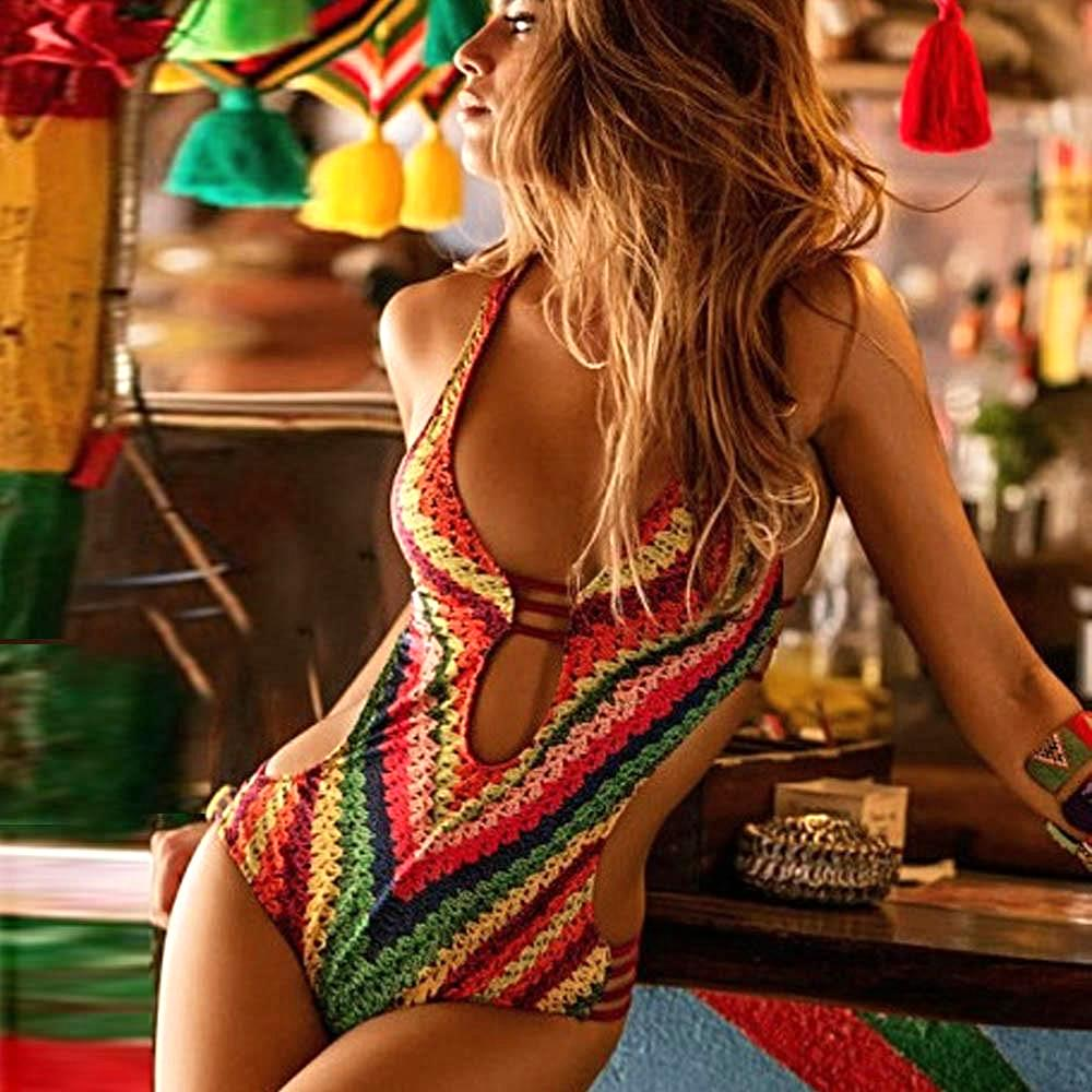 Multicolour Low Cut One Piece Swimsuit - LABELSHOES