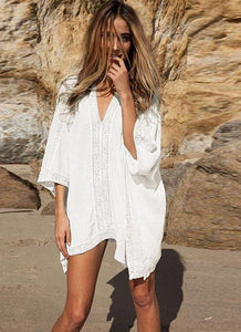 White Lace Coverup - LABELSHOES
