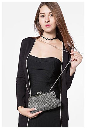 Black Sequined Evening Clutch - LABELSHOES