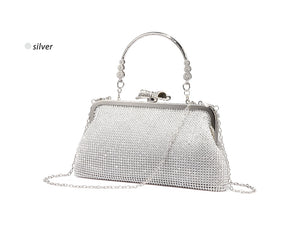 Silver Sequined Evening Clutch - LABELSHOES