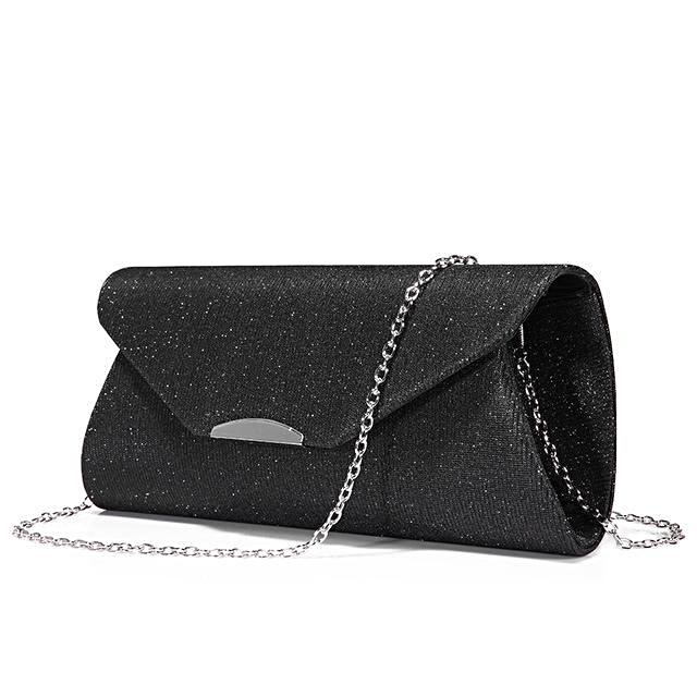 Black Sequined Clutch - LABELSHOES