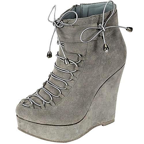 Nayline Grey Booties - LABELSHOES