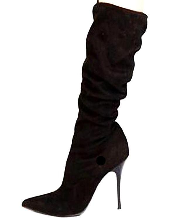 Black High Heels Boots - WR - LABELSHOES