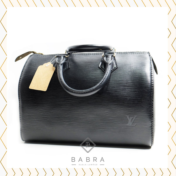 Louis Vuitton Speedy 25 epi leather black - BABRA - PRELOVED LUXURY