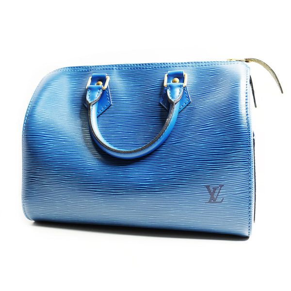 Louis Vuitton 25 epi leather blue - BABRA - PRELOVED LUXURY