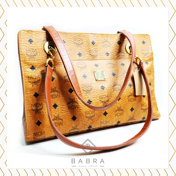 MCM tote bag cognac - BABRA - PRELOVED LUXURY