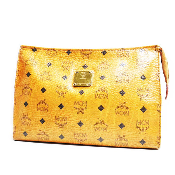 Mcm Pouch Cognac - BABRA - PRELOVED LUXURY