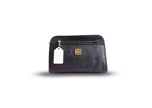 MCM Clutch Black - BABRA - PRELOVED LUXURY
