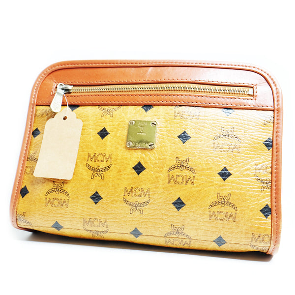 Mcm Clutch Cognac Small - BABRA - PRELOVED LUXURY