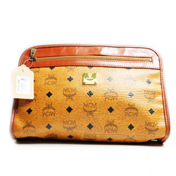 Mcm Clutch Cognac Big - BABRA - PRELOVED LUXURY