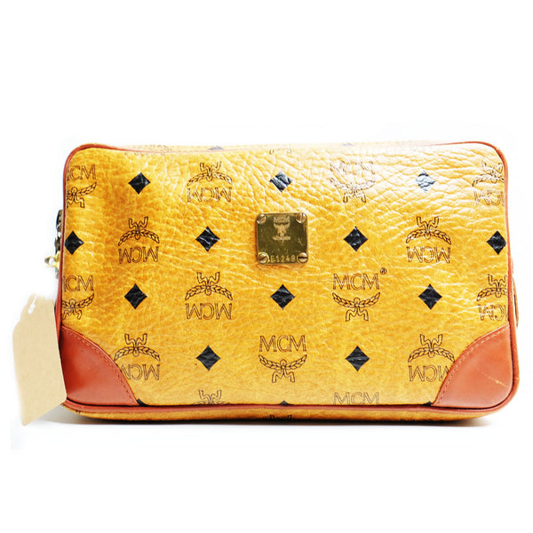Mcm Clutch Mini Marly Cognac - BABRA - PRELOVED LUXURY