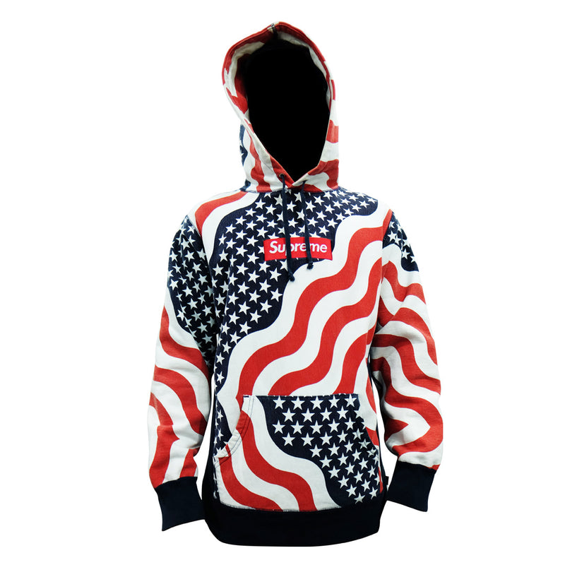 Supreme American Flag Box Logo Hoodie - BABRA - PRELOVED LUXURY