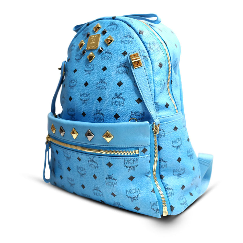MCM Backpack Stark Blue Medium - BABRA - PRELOVED LUXURY