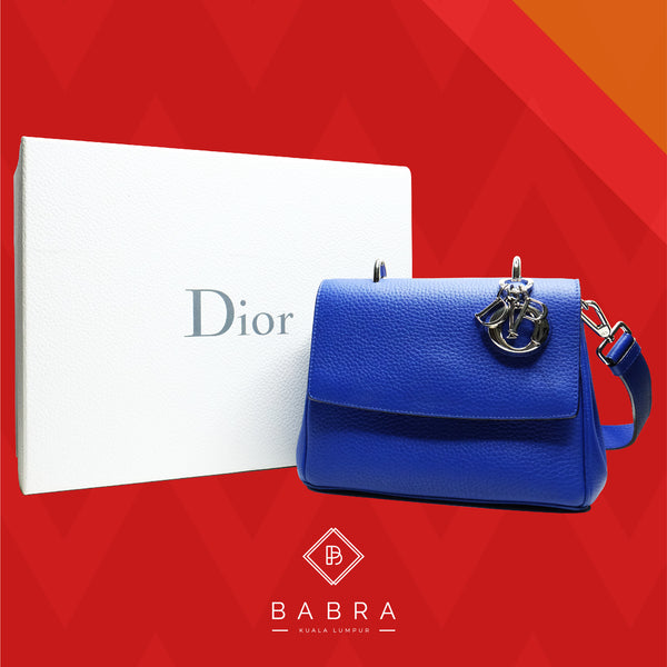 Christian Dior be dior flap small flap bag electric blue - BABRA - PRELOVED LUXURY
