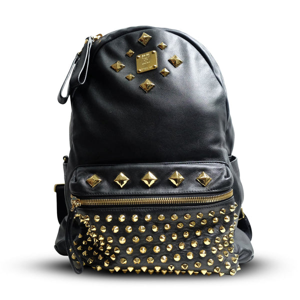 MCM Backpack Black Nappa Leather (limited edition) - BABRA - PRELOVED LUXURY