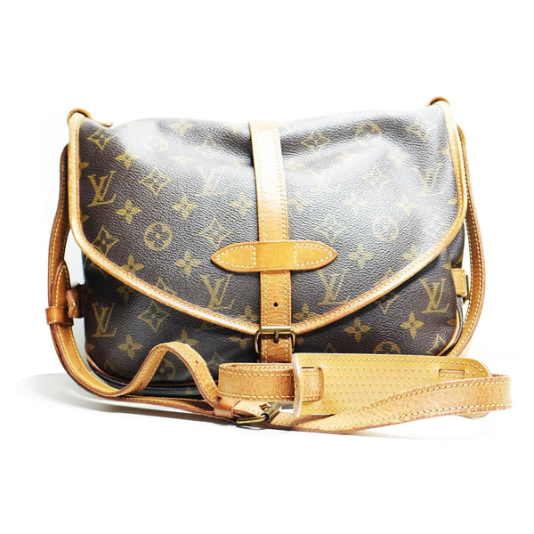 Louis Vuitton Saumur 30 monogram coated canvas - BABRA - PRELOVED LUXURY