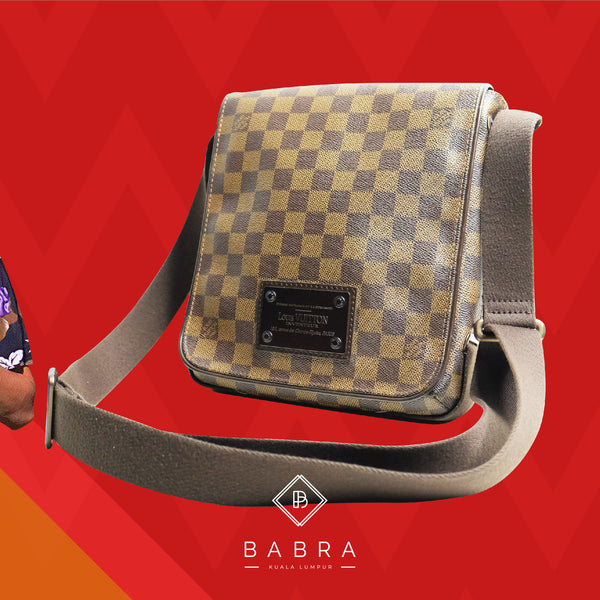 Louis Vuitton Brooklyn pm damier ebane - BABRA - PRELOVED LUXURY