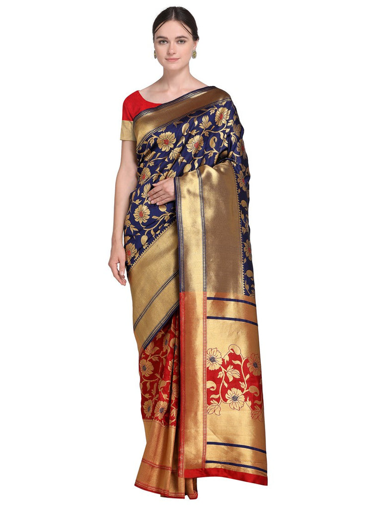 e557cdfd367 Latest Women Maroon Color Poly Silk Saree With Blouse – Shopping Mantri