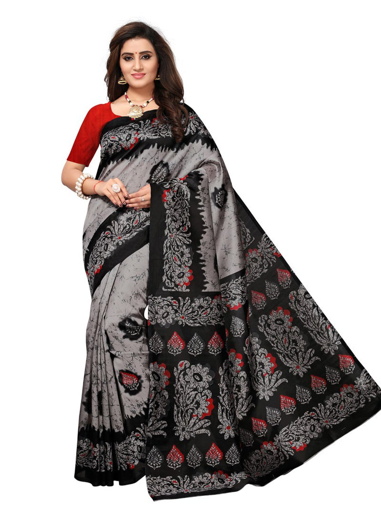 9380b201bac Women Latest Red Multi Color Poly Silk Saree With Blouse – Shopping ...