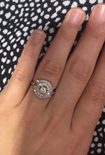 Load image into Gallery viewer, Vintage Diamond Cluster 14K White Gold Cocktail Engagement Ring - alpha-omega-jewelry