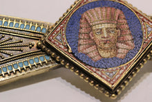 Load image into Gallery viewer, Egyptian Revival Micro Mosaic Pharaoh 14K Gold Brooch - alpha-omega-jewelry