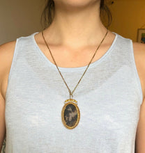 Load image into Gallery viewer, Victorian Dendritic Moss Agate and 0.5 Carat Diamond 14K Gold Pendant Necklace - alpha-omega-jewelry